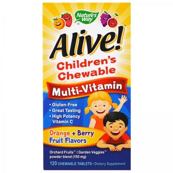 Nature's Way Alive Children's Chewable Multivitamin 120 таблетки15786