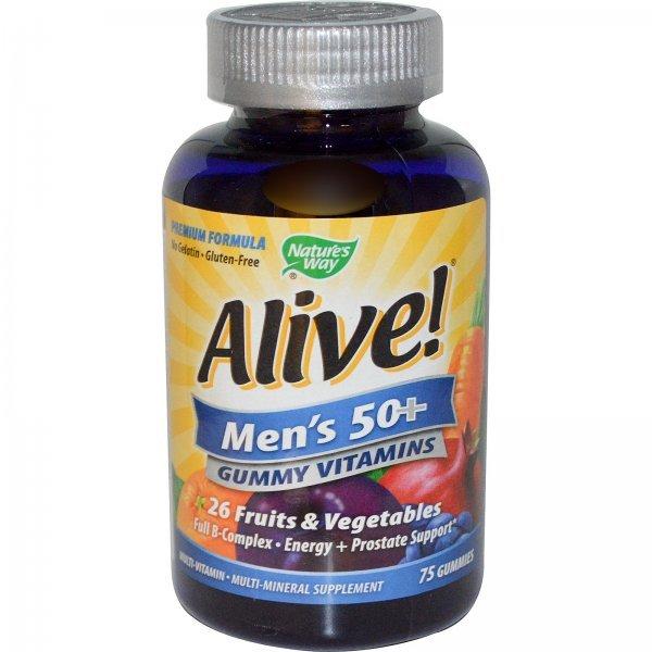 Nature's Way Alive Multivitamins Men's 50+ 75 таблетки15898