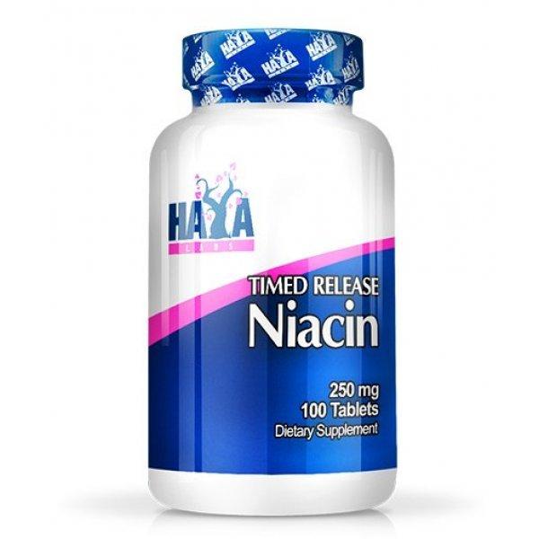Haya Niacin /Time Release/ 250 мг 100 таблеткиHaya Niacin /Time Release/ 250 мг 100 таблетки