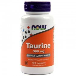 NOW Taurine 500 mg 100 капсули
