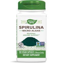 Nature's Way Spirulina 380 мг 100 капсули