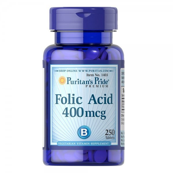 Puritan's Pride Folic Acid 400 мкг 100 таблеткиPP1067