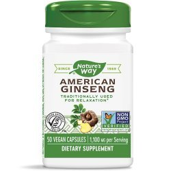 Nature's Way American Ginseng 550 мг 50 капсули