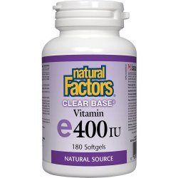 Natural Factors Clear Base Vitamin E 180 дражета