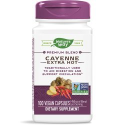 Nature's Way Cayenne Extra Hot 100 000 H.U. Potency 450 мг 100 капсули