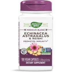 Nature's Way Echinacea & Astragalus & Reishi 400 мг 100 капсули