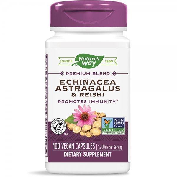 Nature's Way Echinacea & Astragalus & Reishi 400 мг 100 капсули413