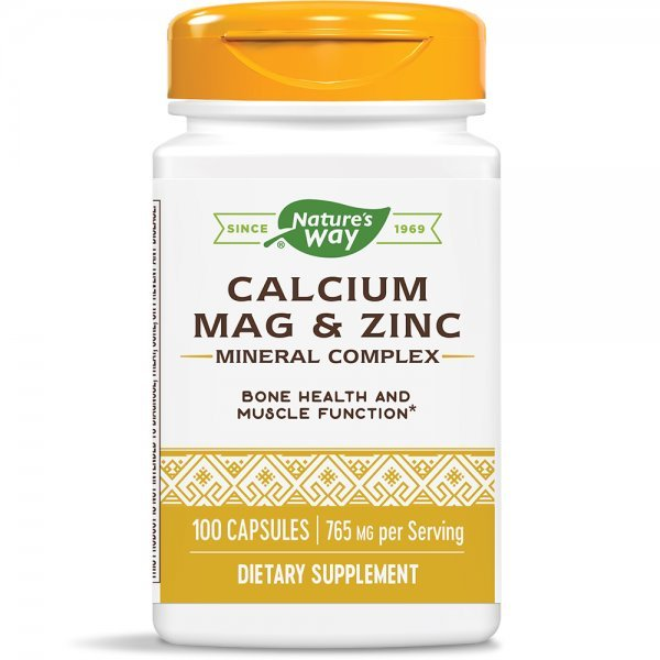 Nature's Way Calcium, Mag & Zinc 255 мг 100 капсули41410