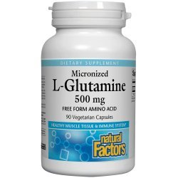 Natural Factors L-Glutamine Micronized 500 мг 90 капсули