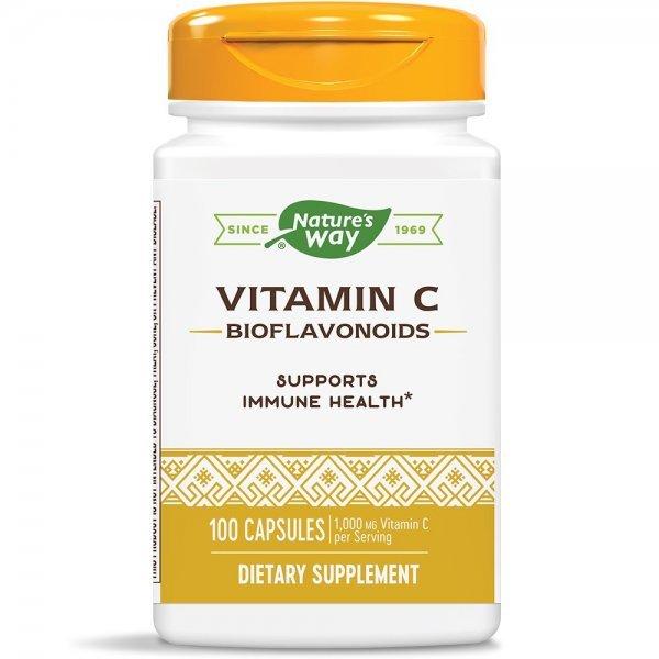 Nature's Way Vitamin C & Bioflavonoids 500 мг 100 капсули40330