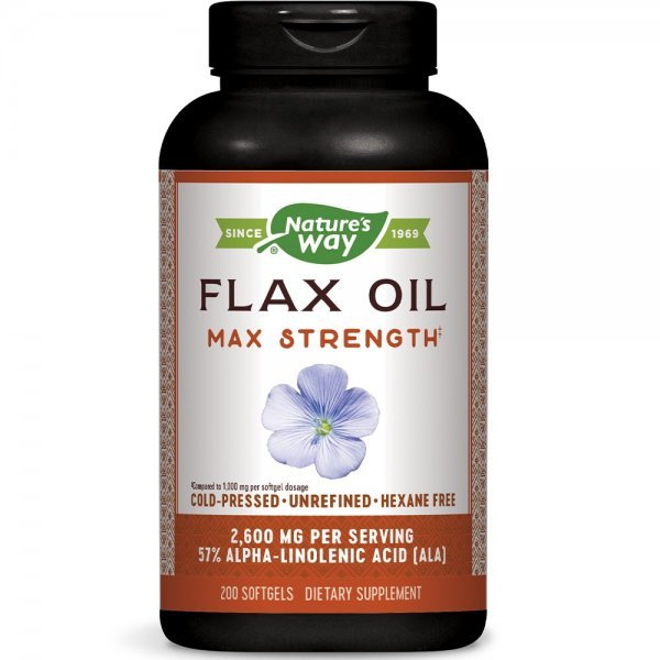Nature's Way Flax Oil 1300 мг 200 капсули15425