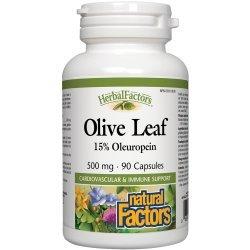 Natural Factors Olive Leaf 500 мг 90 капсули