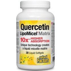 Natural Factors Quercetin LipoMicel Matrix 10 X Higher Absorption 30 дражета