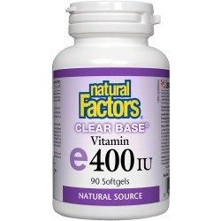 Natural Factors Clear Base Vitamin E 90 дражета