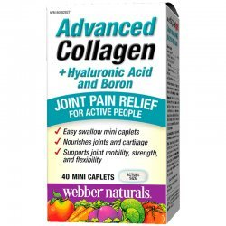 Webber Naturals Advanced Collagen, Hyaluronic Acid and Boron 40 мини каплети