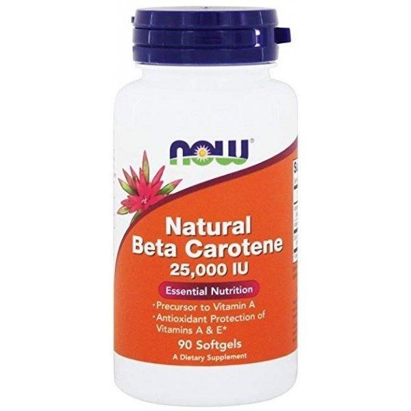 NOW Beta Carotene Natural 25000IU 90 дражетаNOW320