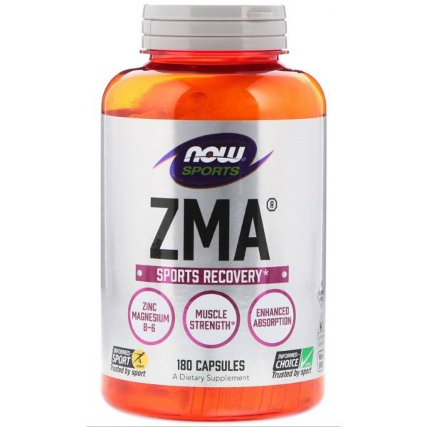 NOW ZMA 800 мг 180 капсулиNOW2201