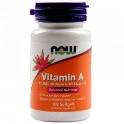 NOW Витамин A 10000IU 100 дражета