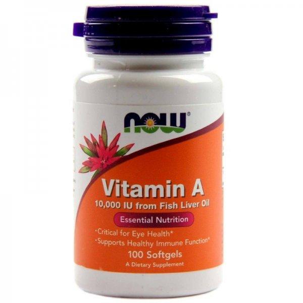 NOW Витамин A 10000IU 100 дражетаNOW330