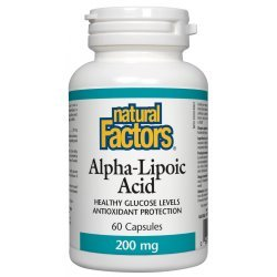Natural Factors Alpha Lipoic Acid 200 мг 60 капсули
