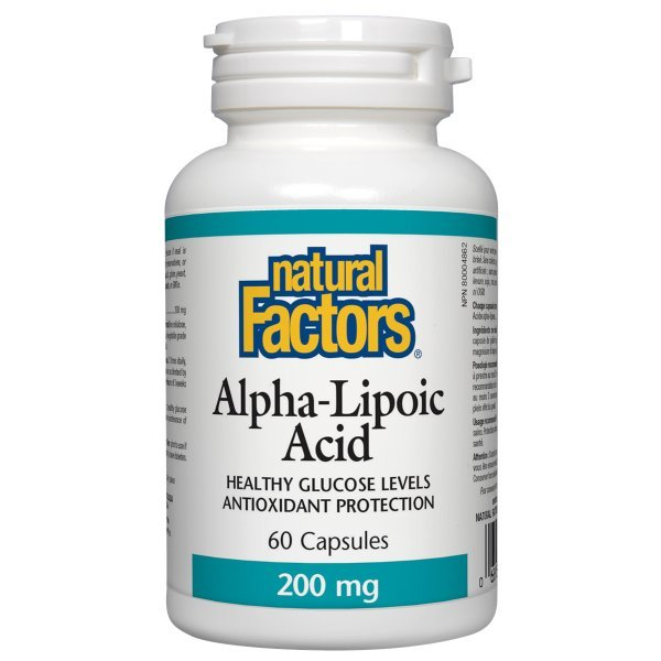 Natural Factors Alpha Lipoic Acid 200 мг 60 капсули2098