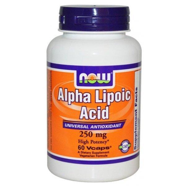 NOW Alpha Lipoic Acid 250 mg 60 капсулиNOW3042