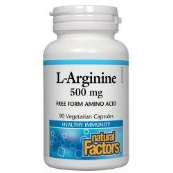 Natural Factors L-Arginine 500 мг 90 капсули