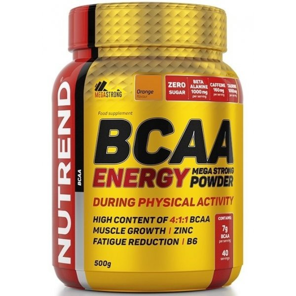 Nutrend BCAA Energy Mega Strong 500 мгNutrend BCAA Energy Mega Strong 500 мг