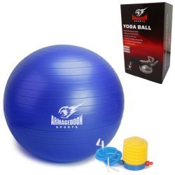 Фитнес гимнастическа топка Armageddon Sports, 65 см, Син