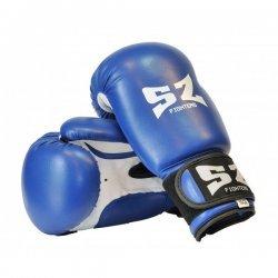 Боксови ръкавици изкуствена кожа сини SZ