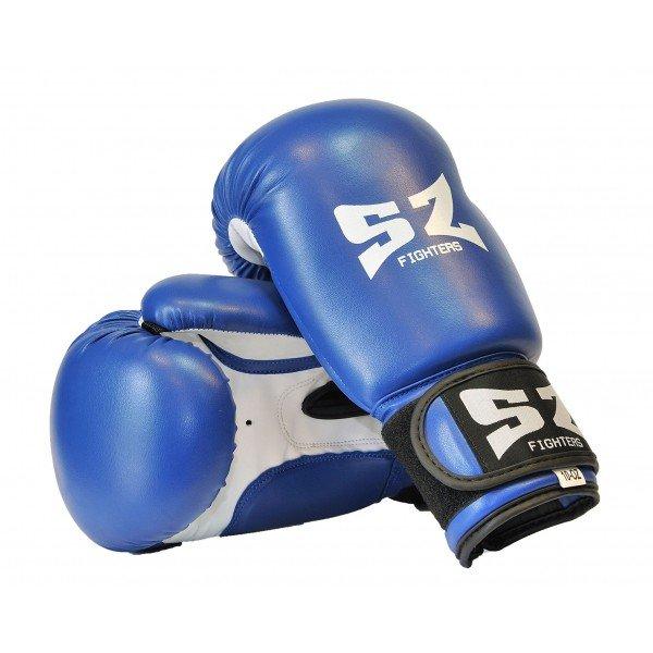 Боксови ръкавици изкуствена кожа сини SZБоксови ръкавици изкуствена кожа сини SZ