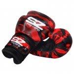 Боксови Ръкавици Camo SZ Fighters Red, естествена кожаSZ0193