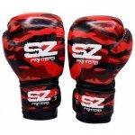 Боксови Ръкавици Camo SZ Fighters Red, естествена кожаSZ0191