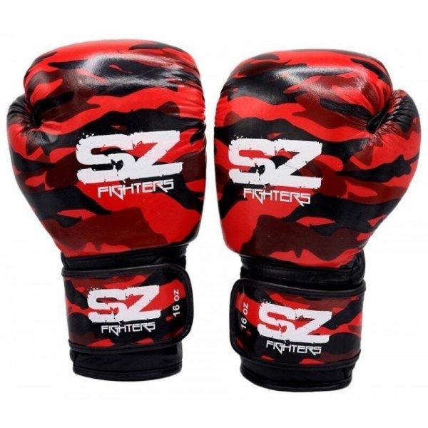 Боксови Ръкавици Camo SZ Fighters Red, естествена кожаSZ019