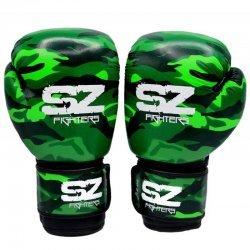 Боксови Ръкавици Camo SZ Fighters Green, естествена кожа