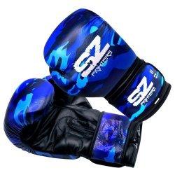 Боксови Ръкавици Camo SZ Fighters Blue, естествена кожа