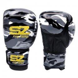 Боксови Ръкавици Camo SZ Fighters Grey, естествена кожа