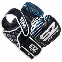 Боксови Ръкавици Plasma SZ Fighters Blue, естествена кожа