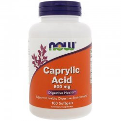 NOW Caprylic Acid 100 капсули