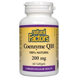 Natural Factors Coenzyme Q10 200 мг 60 дражета