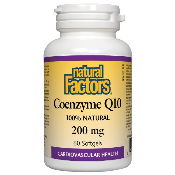 Natural Factors Coenzyme Q10 200 мг 60 дражета20722