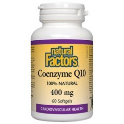 Natural Factors Coenzyme Q10 400 мг 60 дражета