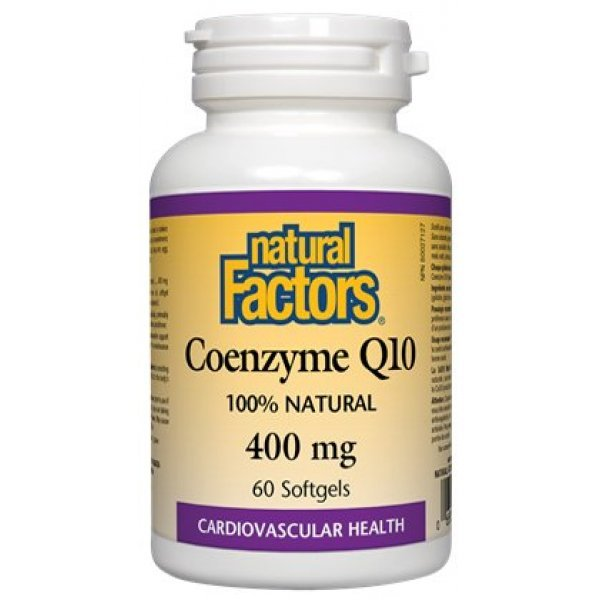 Natural Factors Coenzyme Q10 400 мг 60 дражета20725