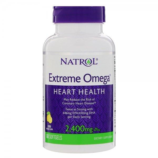 Natrol Extreme Omega 1200 мг 60 дражетаNAT386