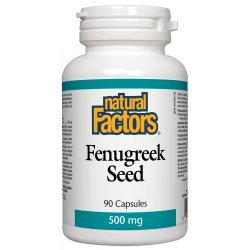 Natural Factors Fenugreek Seed 500 мг 90 капсули