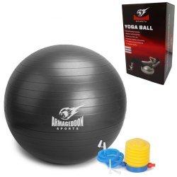 Фитнес гимнастическа топка Armageddon Sports, 65 см, Сив