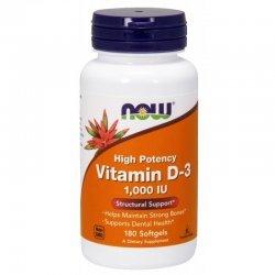 NOW Vitamin D 1000 IU 180 дражета