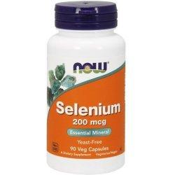 NOW Selenium 200 мкг 90 капсули
