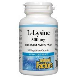 Natural Factors L-Lysine 500 мг 90 капсули