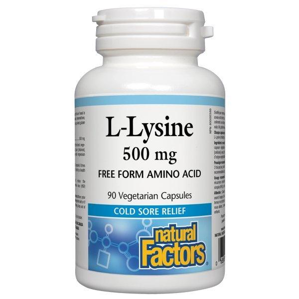Natural Factors L-Lysine 500 мг 90 капсули2823
